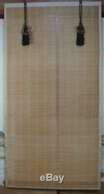Japan Buddhist temple Sudare bamboo curtain 1970's Japanese