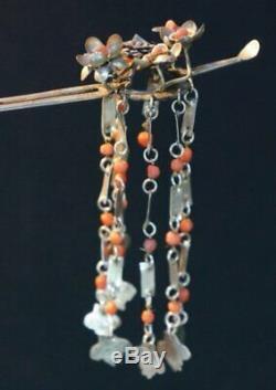 Japan Geisha hair pins Kanzashi 1900s Japanese Kmono craft accessory