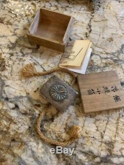 Japan Imperial bonbonniere Silver Box Original Box Japanese antique