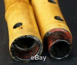 Japan Shakuhachi bamboo Zen flute 1900s Japanese hand craft