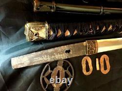 Japan early Edo shinto 4 yrs old blade signed with polish and koshirae