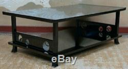 Japan fine lacquered Dai table master wood craft 1900s Japanese interior