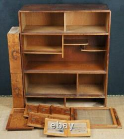Japan furniture Chadansu tea cabinet 1900s interior Tansu craft