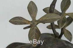 Japanese Antique Bronze Bird Copper Statue Sculpture Figurine Japan