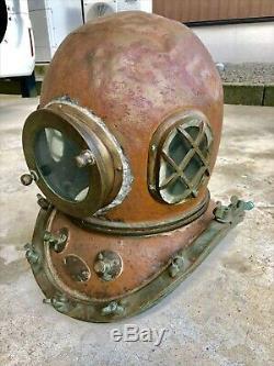 Japanese Antique Diving Helmet TOA Bronze Vintage Deep Sea Rare
