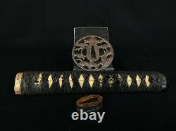 Japanese Antique Koshirae Sword Mounting Katana Tsuba Menuki Fuchi (b482)