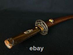 Japanese Antique Koshirae Sword Mounting Katana Tsuba Menuki Fuchi(b647)