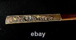 Japanese Antique Koshirae Sword Mounting Katana Tsuba Menuki Fuchi(b721)