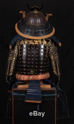 Japanese Antique Samurai Armor Helmet Yoroi 32 Ken Suji Kabuto Edo Era