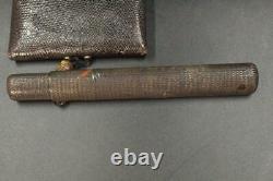 Japanese Antique dragonfly Kiseru case Copper Ojime Tabako kabuto kanagu KIBC56