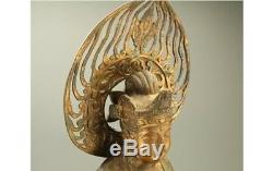 Japanese Antiques Old Iron statue BUDDHIST KANNON Bodhisattva 38 JAPAN a440