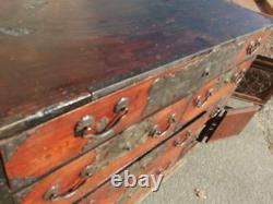 Japanese Chest antique Tansu Dansu Storage Safe Box Wood Handmade F/S