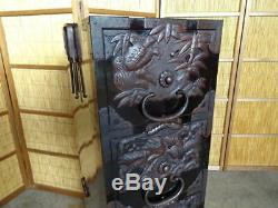 Japanese Chest antique Tansu Storage Safe Box Wood Handmade withKey F/S