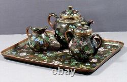 Japanese Cloisonne Tea Set MEIJI