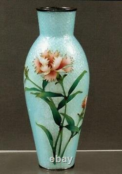 Japanese Cloisonne Vase ANDO SILVER WIRE