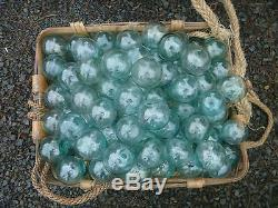 Japanese Glass Fishing FLOATS 2 LOT-30 BULK Tiki Bridal Pool Decor Vntg