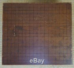 Japanese Goban thick wood board and Ischi 1900s Japan chess