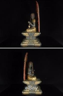 Japanese, Japan, Fudo Myo-o, Buddhism, wooden, statue Buddha 64.5cm