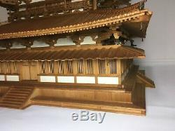 Japanese Japan, Jcultural heritage Buddhist temple horyuji kondo, model 35cm