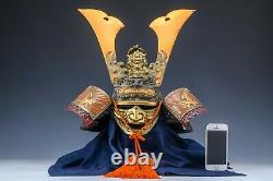 Japanese Old Vintage Samurai Helmet -Dragon and Hawk Deco Kabuto with a mask
