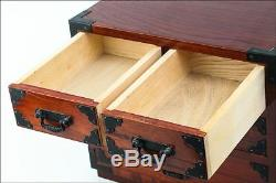 Japanese Small Chest of Drawer Hikidashi Tansu W10 H8 5/8 D6 3/4 #20335