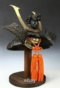 Japanese Stunning Black Samurai Helmet -Genji Dragon Kabuto