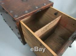 Japanese TANSU Antique old wooden chest japan suzuribako Calligraphy box vintage