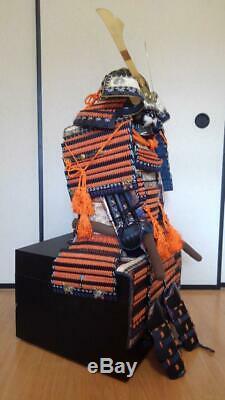 Japanese Traditional SAMURAI wearable Kabuto and Armor Yoroi Set Used From Japan