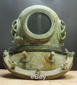 Japanese Vintage Diving Helmet Ornament Yokohama Sensuigu Kk Rare