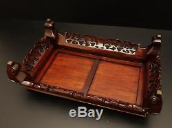 Japanese Vintage Flower Bonsai Table Stand / Great Work! / W 61×H 18cm 4050g