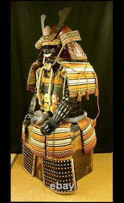 Japanese Vintage Samurai Armor Helmet Yoroi Kabuto