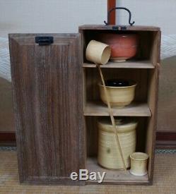 Japanese ceramic Tea Ceremony set 1950s Chabako Ochawan Japan art sale