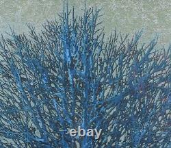 Joichi HOSHI print TREETOP (BLUE) 1973
