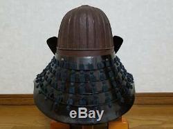KABUTO 32-Ken Suji Helmet Edo Period Samurai armor Japan life-size Maedate