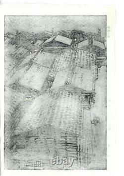 Kasamatsu Shiro Vintage Woodblock Print Sea of Echigo