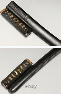 Katana Koshirae Saya Tsuka Tsuba Habaki Seppa Samurai Sword Antique Japan KT001