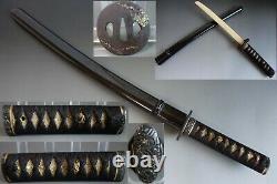 Koshirae wakizashi saya tsuba Samurai menuki fuchi kashira Katana Sword fitting