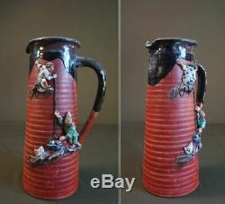 Large Early 20th Century Japanese Sumida Gawa Tanker Vase