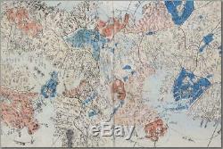 MAP17 Sekisui Nagakubo wood block print Japanese Antique map 1775 Edo
