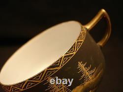 MARKED Shuzan JAPANESE TAISHO SATSUMA EGGSHELL C & S / PLATE / TEA / COFFEE SET