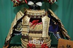 MINT Antique Vintage Japanese samurai yoroi armor gogatsu doll From Japan f/s