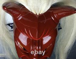 Master Craftsmanship! Japanese Wooden Menburyu Mask Furyu Parade UNESCO