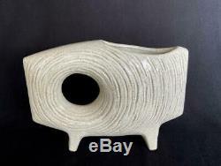 Mid-Century Japanese Toyo Stoneware Art Pottery Sculpture Ikebana Vase Bowl Pot