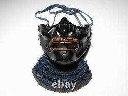 Museum Grade KABUTO MENPO MAEDATE Set Japanese Original Edo Yoroi Armor Antique
