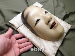 NAGASAWA UJIHARU Signed NOH-MASK KO-OMOTE Japanese Vintage Artwork