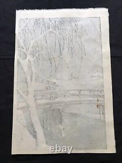 ORIGINAL HASUI KAWASE Woodblock Print Okiyoue Japan. RARE