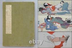 ORIGINAL Japanese Art Shunga 24 Pages Erotic Hand Paint Book UKIYOE