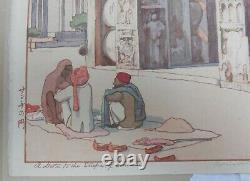 Old Japanese Woodblock Print Hiroshi Yoshida A Gate to the Stupa of Sanchi