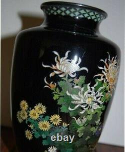 PAIR ANTIQUE JAPANESE CLOISONNE VASES HAYASHI KODENJI Excellent 1899-1920