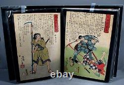 Portfolio of 20 Original Yoshitoshi Japanese Woodblock Prints Modern Heroes